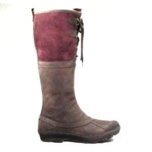UGG Belcloud Duck Snow Boots Winter Brown Purple 6